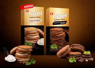 Nuevas Galletas Noel finas con crema de yogur y chocolate