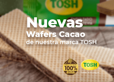 ¡Te presentamos las nuevas Wafers Cacao de nuestra marca TOSH!