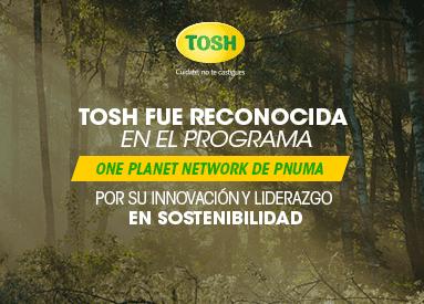 Tosh fue reconocida por las Naciones Unidas por su innovación y liderazgo en sostenibilidad