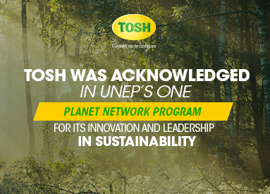 Tosh was recognized by the United Nations for its innovation and leadership in sustainability