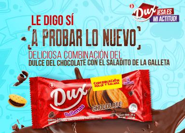 ¡Dile sí a probar las nuevas Dux Rellenas de Chocolate!