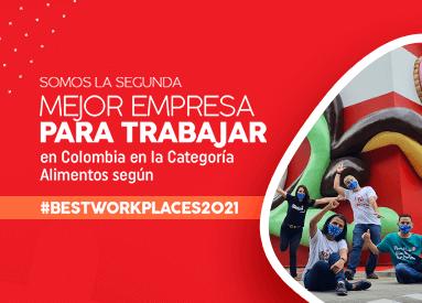 ¡Noel es la segunda mejor empresa de alimentos para trabajar en Colombia!