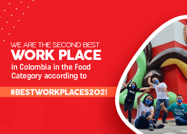 Noel is the second best food workplace in Colombia!